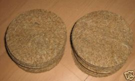 25 x CANARY JUTE NEST PAN QUALITY FELTS - BREEDING